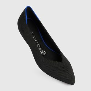 Rothy's Black Pointed-Toe Flats